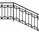 Эскизы лестниц и перил №1