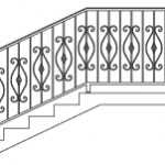 Эскизы лестниц и перил №3