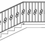 Эскизы лестниц и перил №2