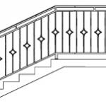 Эскизы лестниц и перил №4